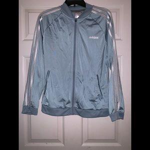 Women's blue white strips adidas jacket L